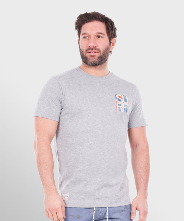 Retro Surf Tee Grey