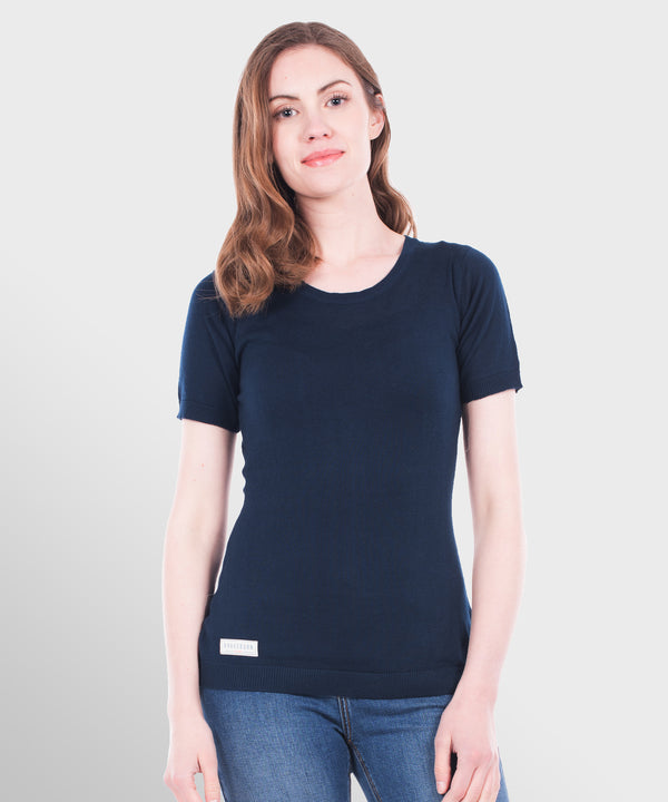 Knitted Tee Navy