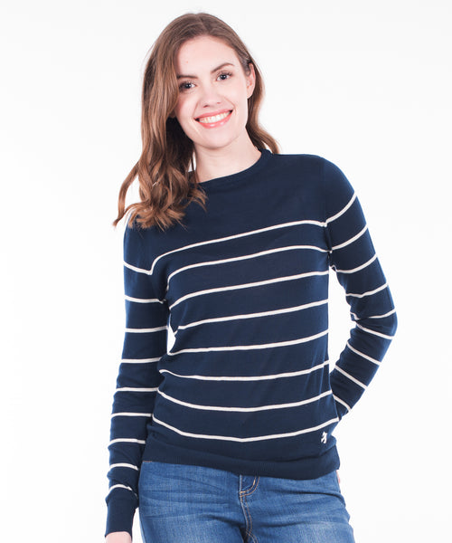 Stripe Knitted Jumper Navy