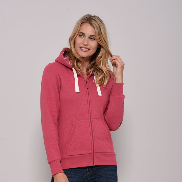 Embroidered Zip Through Hoody