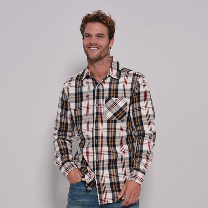 Check Long Sleeve Flannel Shirt
