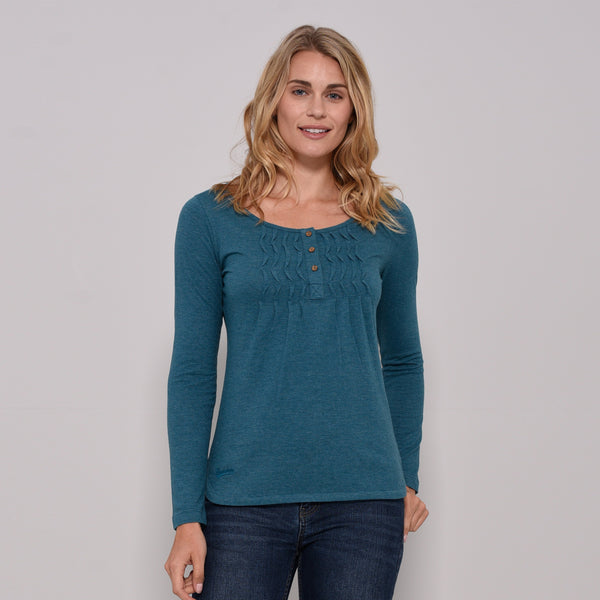 Pleated Henley