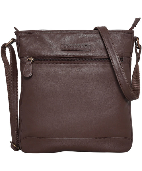 Leather Large Saddle Bag Brown