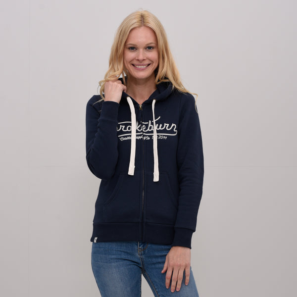 Embroidered Zip Hoody