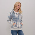 Stripe Zip Hoody
