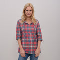 Empire Check Blouse