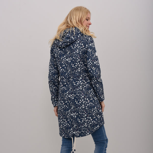 Ditsy Flower Printed Parka