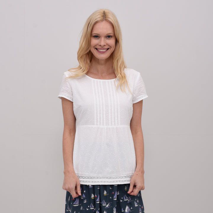 Short Sleeve Blouse White