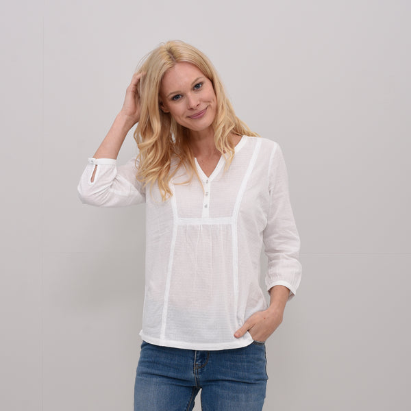 Lace and Dobby Blouse
