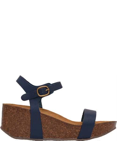 Wedge Sandal Navy