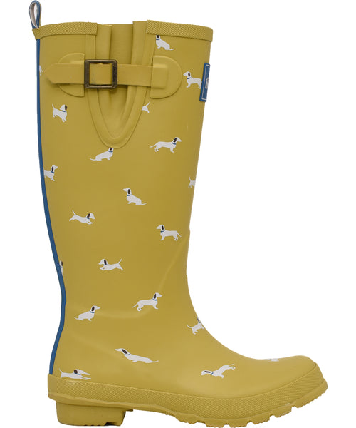 Sausage Dog Welly Yellow