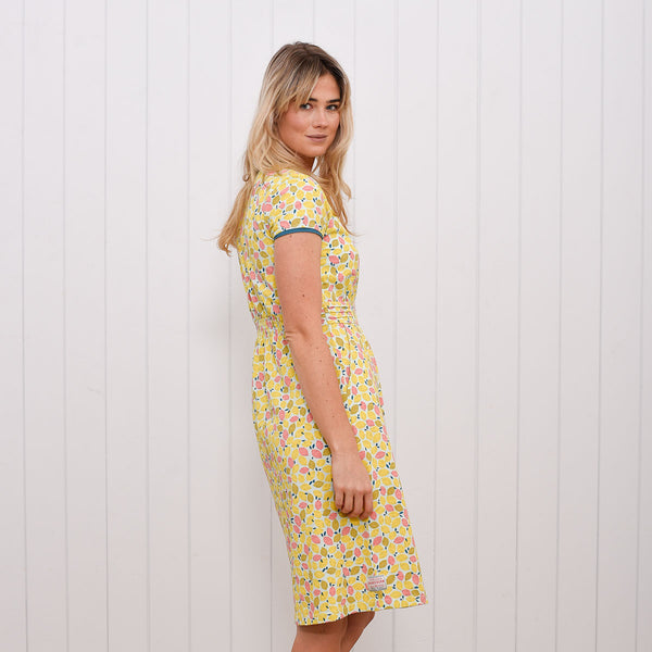 Lemon Wrap Dress