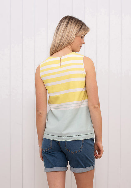 Stripe Sleeveless Blouse