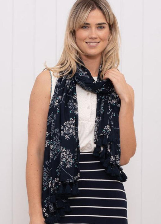 Cow Parsley Tassel Scarf