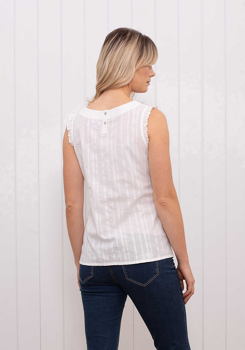 Sleeveless Frill Blouse