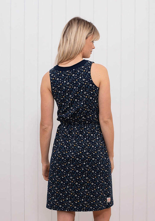 Ditsy Jersey Beach Dress