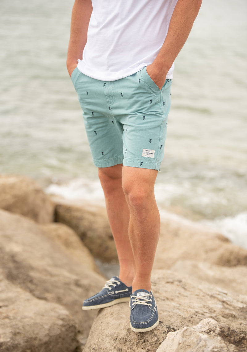 Embroidered Chino Shorts