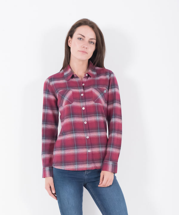 Check Flannel Shirt Berry