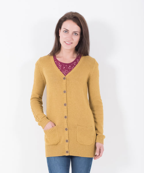 Cable Sleeve Cardigan