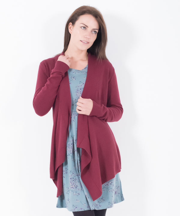 Waterfall Cardigan Maroon