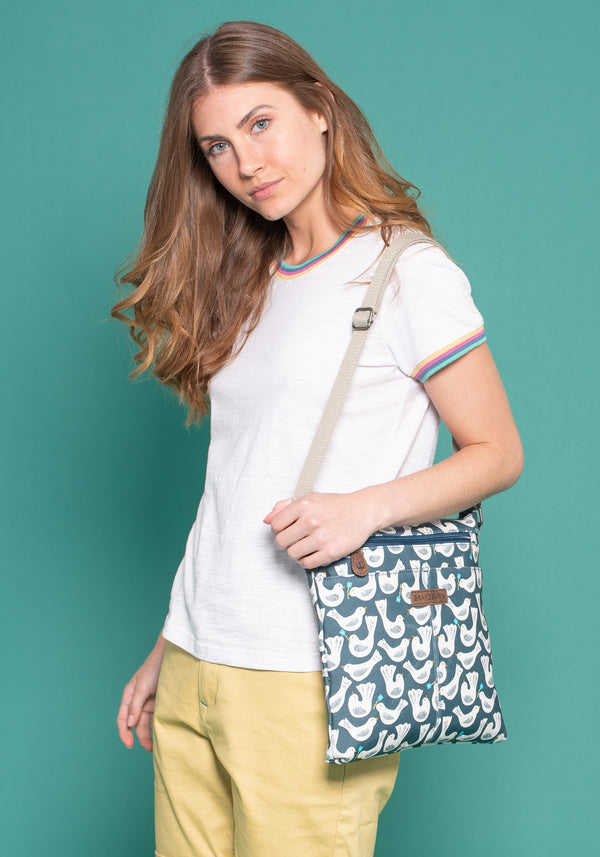 Geo Birds Cross Body Bag