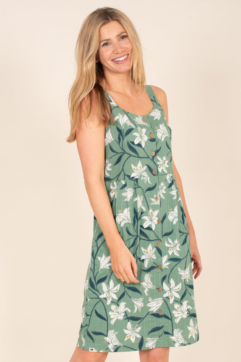 Lily Button Front Dress