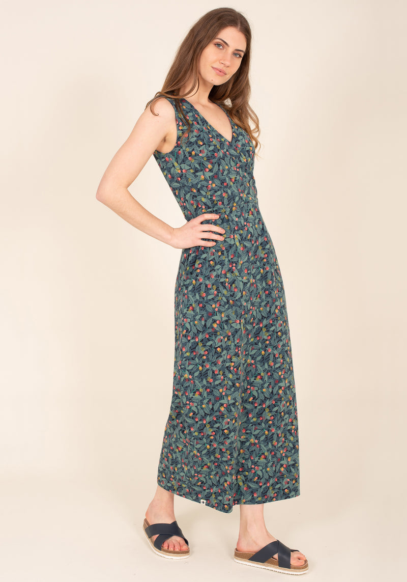 Summer Berry Maxi Dress