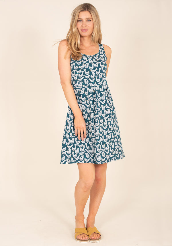 Organic Cotton Geo Birds Dress