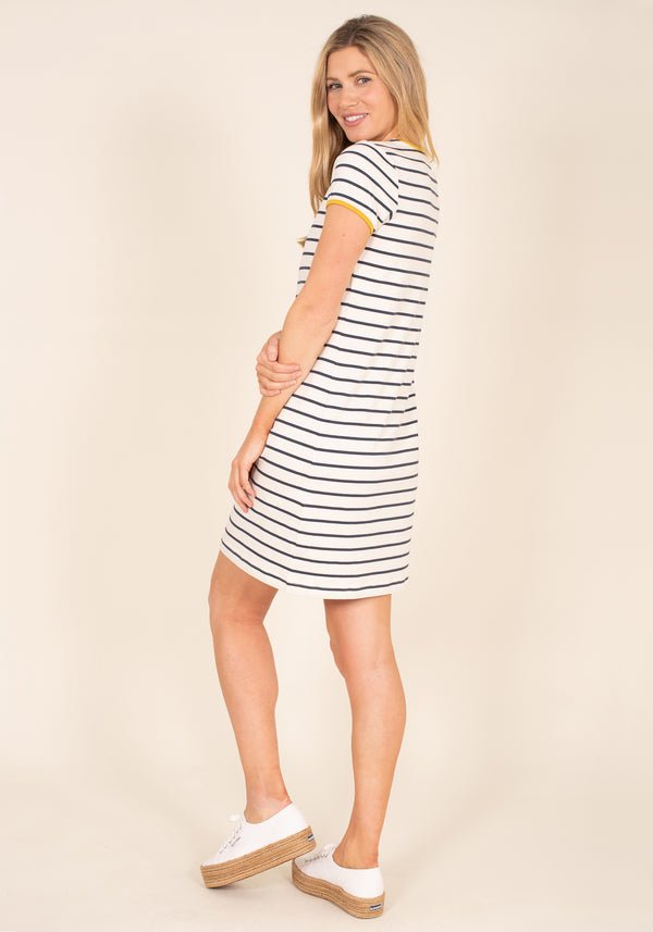 Organic Cotton Stripe Jersey Dress