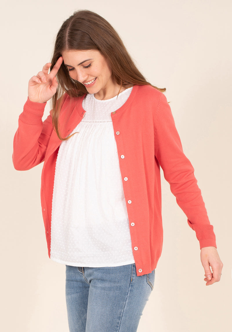 Organic Cotton Button Cardigan