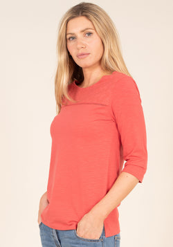 Broderie 1/2 Sleeve Top