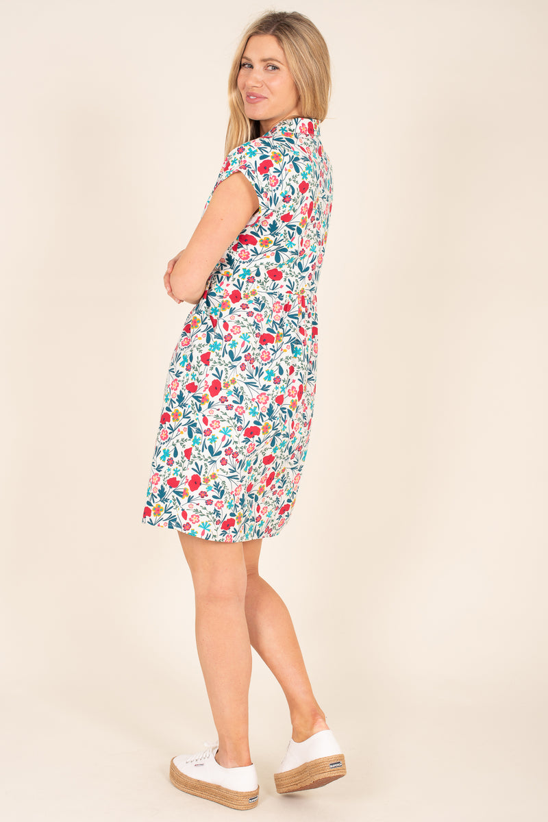 Botanical Shirt Dress