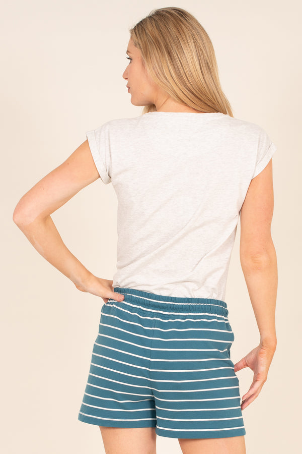 Stripe Sweat Shorts