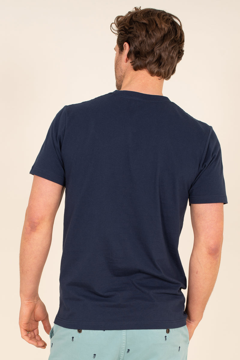 Organic Cotton Embroidered Waves T-Shirt
