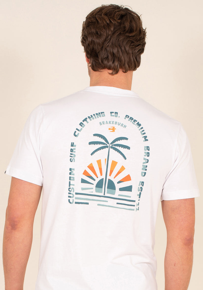 Organic Cotton Palm Print T-Shirt