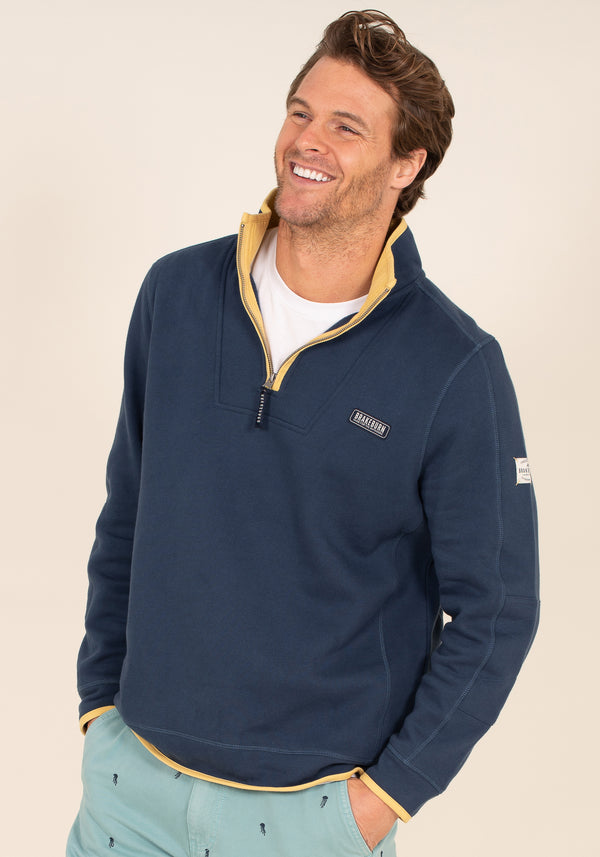 Navy 1/4 Zip Sweat