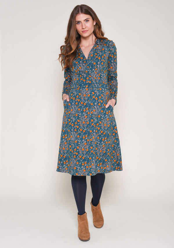 Berry Trail Wrap Dress