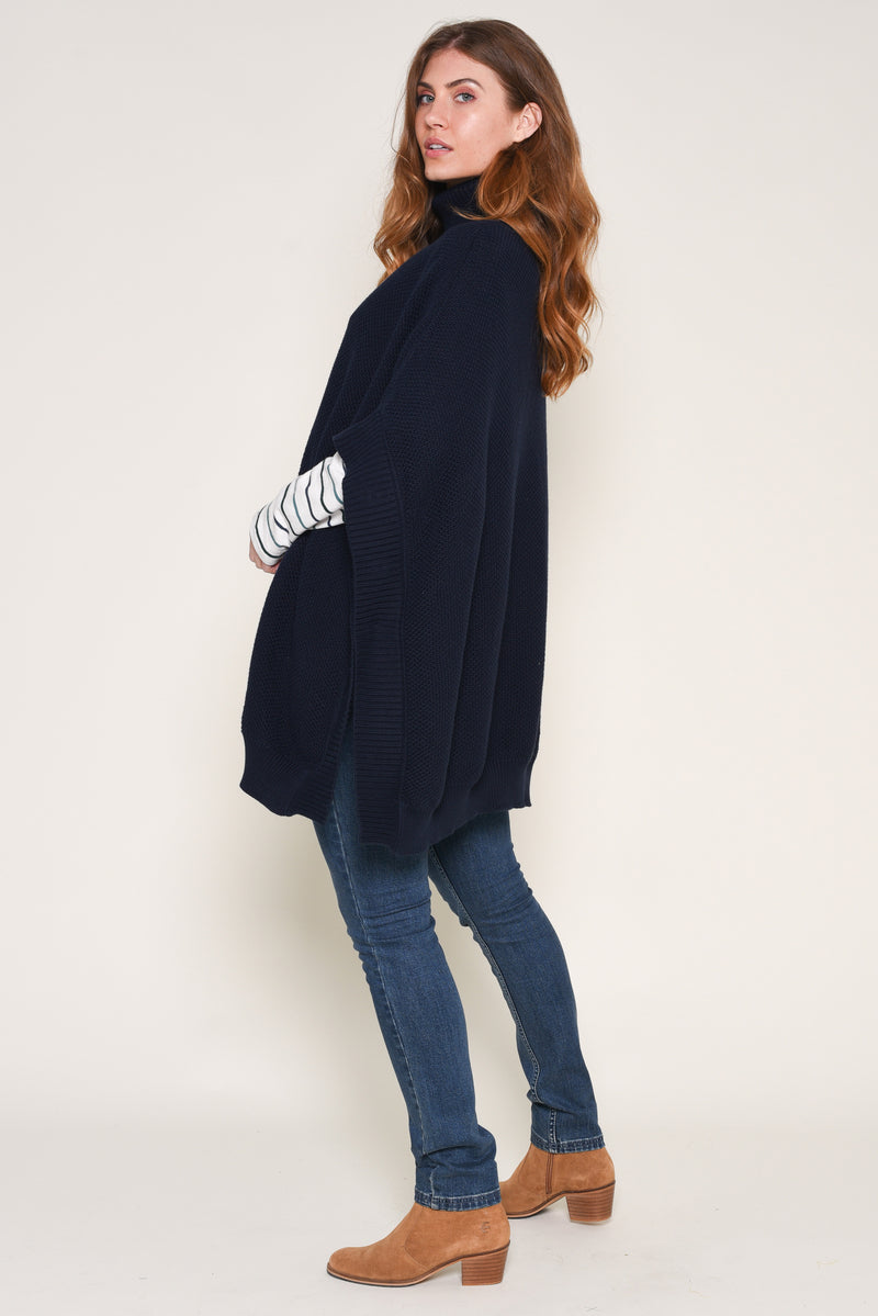 Roll Neck Poncho