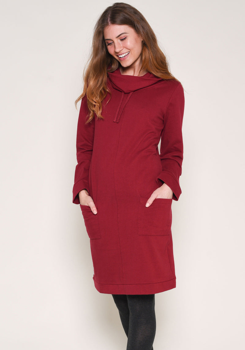 Jersey Cowl Neck Dress