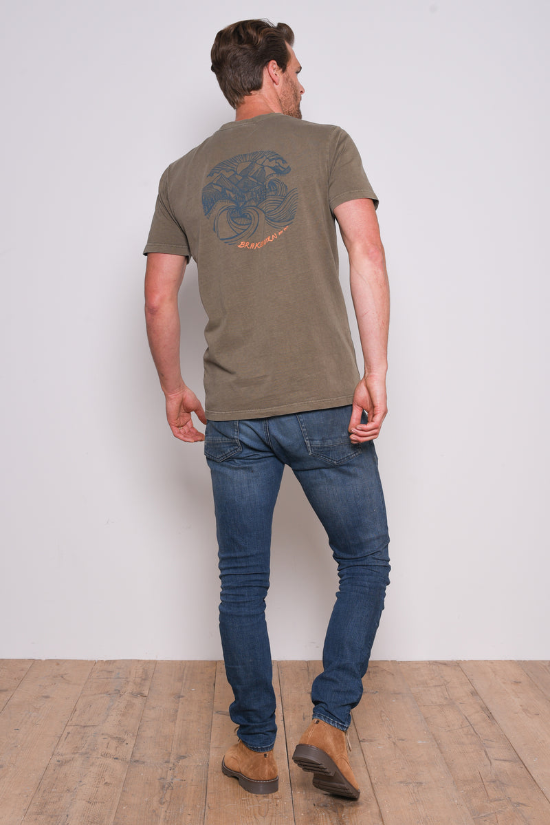 Stormy Sea Garment Dyed Tee