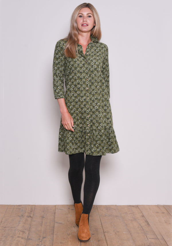 Eden Cord Shirt Dress