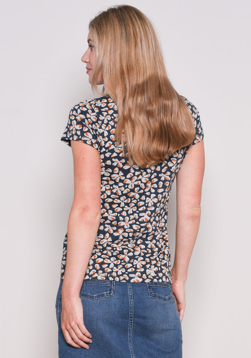 Petals Embroidered Tee