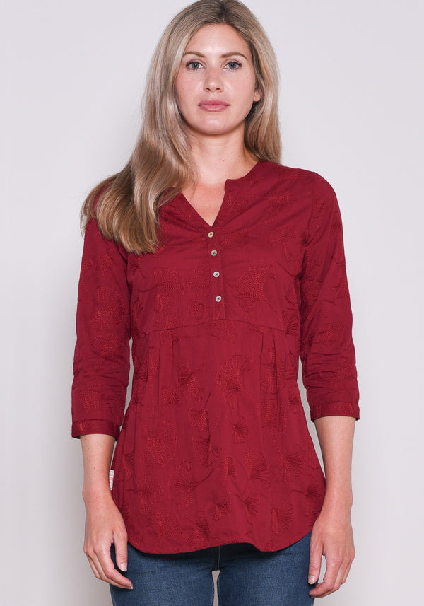 Embroidered Ginkgo Blouse