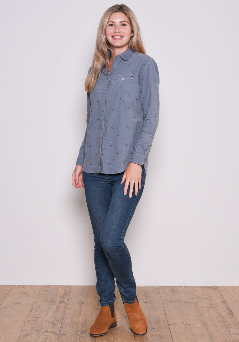 Embroidered Cord Shirt