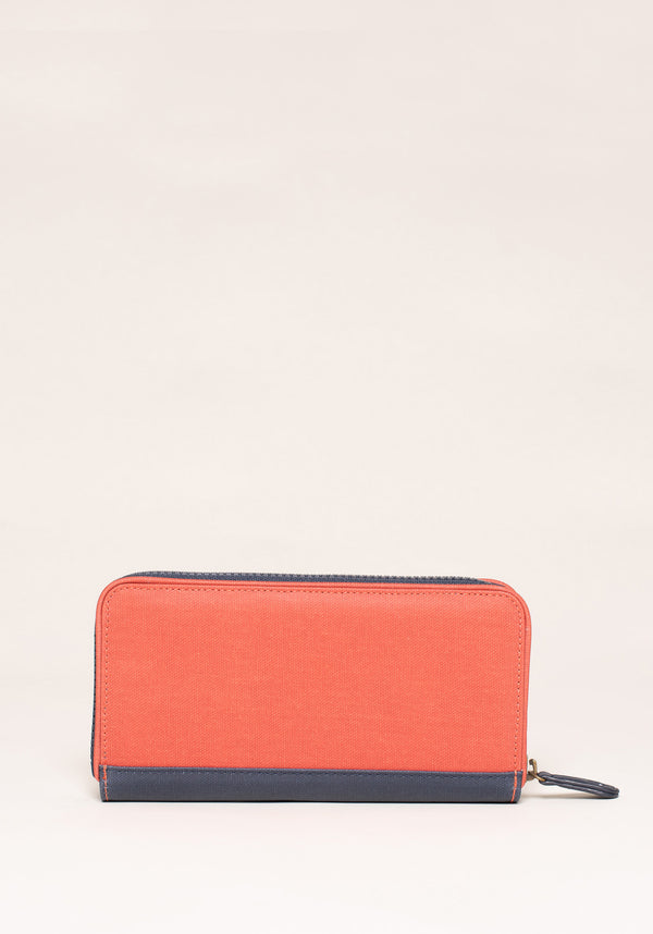 Burnt Orange Zip Purse