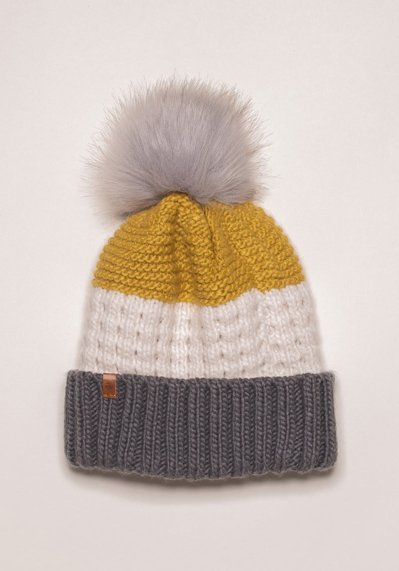 Colour Block Knit Hat