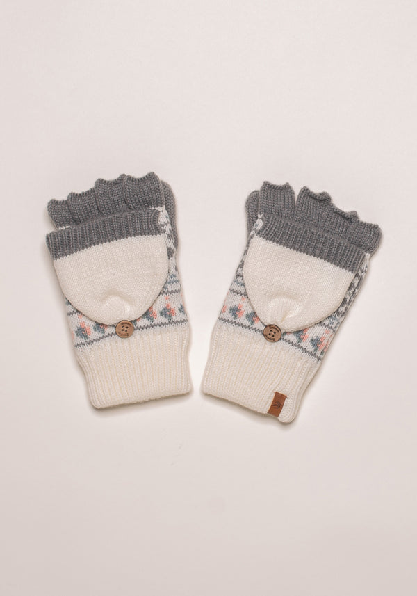 Fairisle Knit Mittens