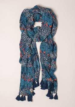 Heather Tassel Scarf