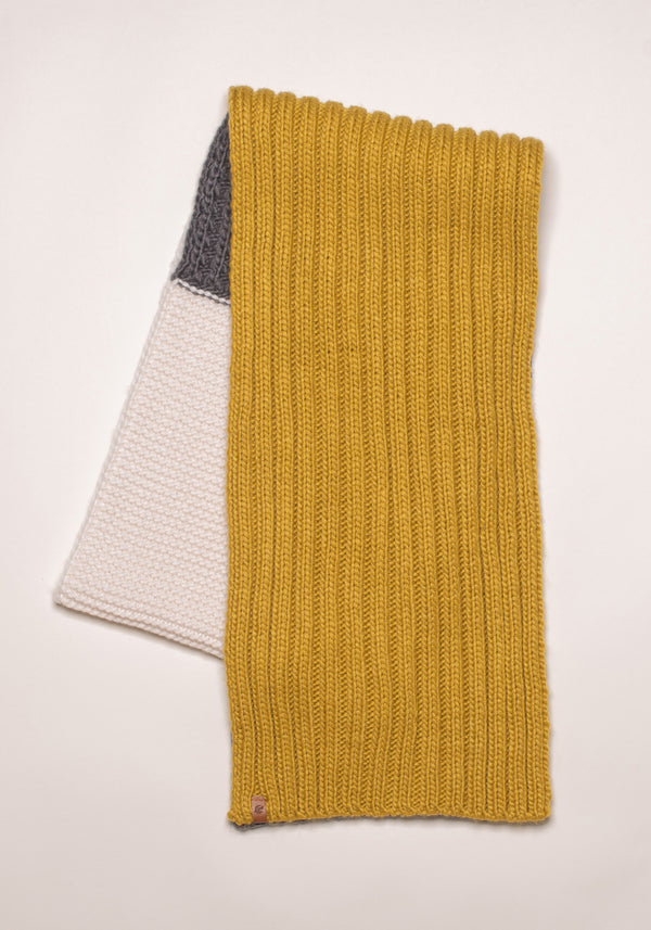 Colour Block Knit Scarf