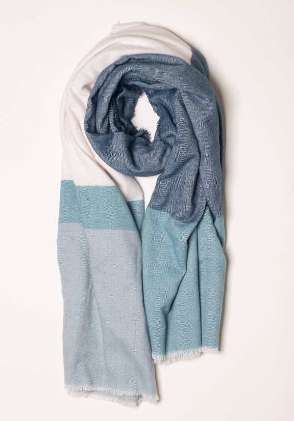 Colour Block Blanket Scarf